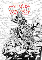 THE LAST JEDI- INKS by VdVector
