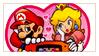 Mario x Peach by Raneese