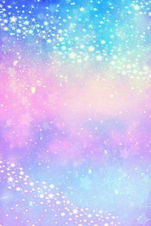 pupple light blue light pink darkblue with stars  by Shockthebunny