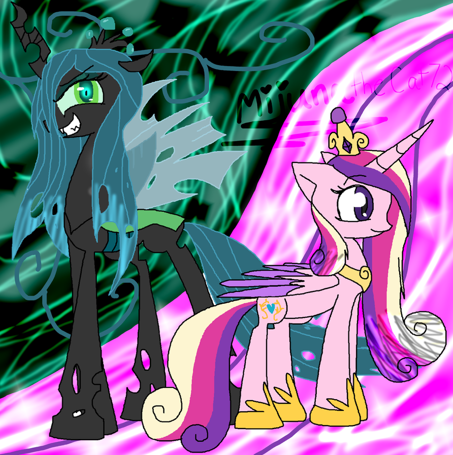 Princess Cadence and Queen Chrysalis by MijunatheCat72Queen Chrysalis X Princess Cadence