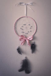 Ribbon and Pearl Dreamcatcher