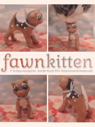 Fawn Kitten Sculpey Figurine