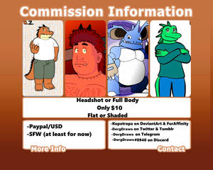 COMMISSIONS OPEN // 4 Slots currently available