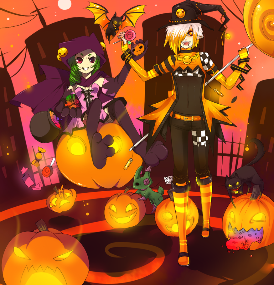 .: + Hello Halloween + :. by AishaxNekox