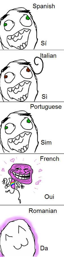 Language difference ROMANCE