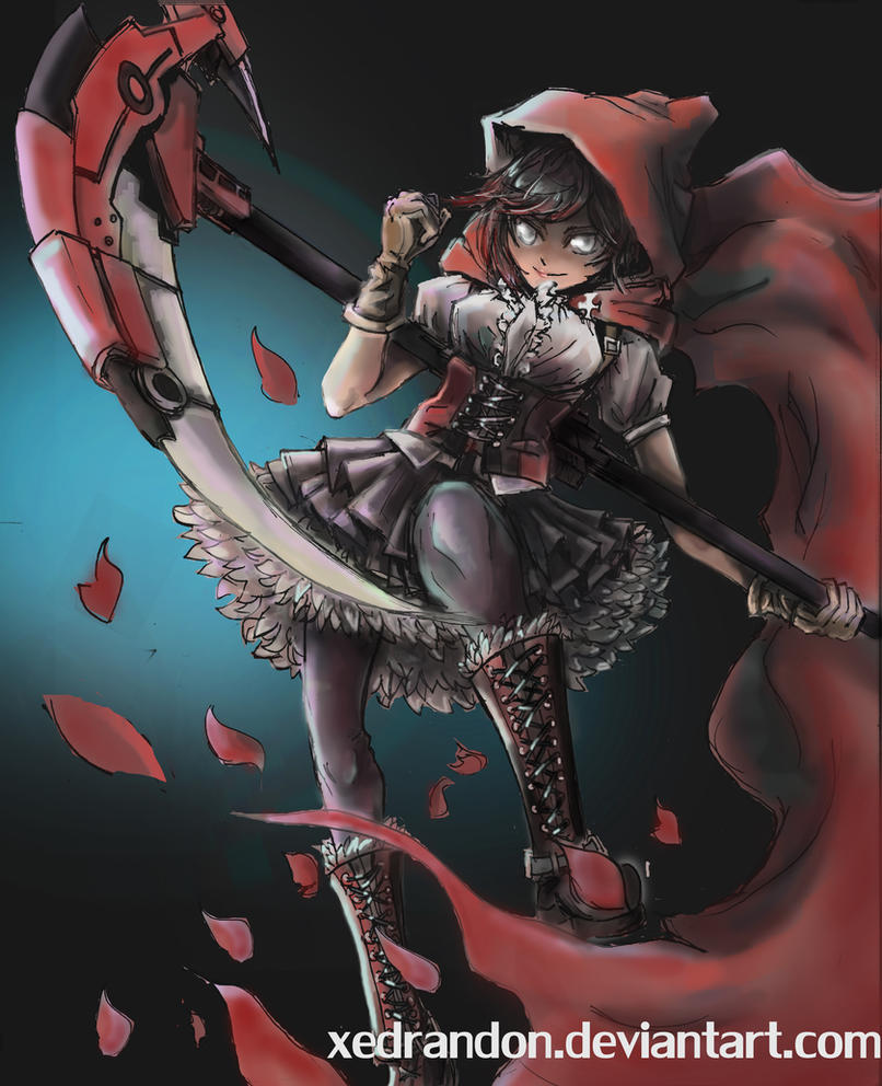 Red like Roses | RWBY by Xedrandon