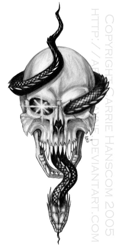 Skull and Serpent by Aerin-Kayne