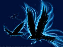 Ravens Wallpaper -detail- by Aerin-Kayne