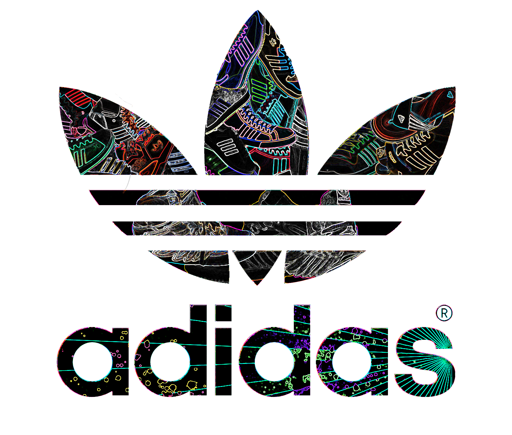 adidas shoes inside the logo by kil3y on deviantart