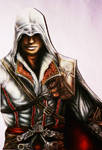 Ezio Auditore Assassins Creed 2 color drawing