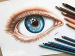 An Eye- Colored Pencil Drawing
