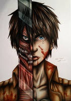 Eren Jaeger by Polaara