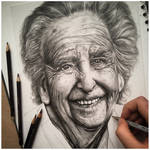 Portrait study- graphic pencil drawing