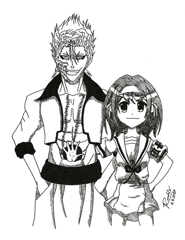 Grimmjow and Haruhi by ruddyPAWEU