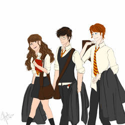 The Golden trio by cutesistersvpr