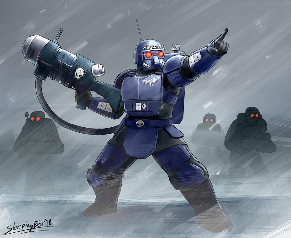 Kasrkin Stormtrooper by SleepingEel