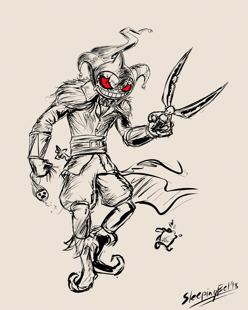 Ghostober 1: Banette Jester by SleepingEel