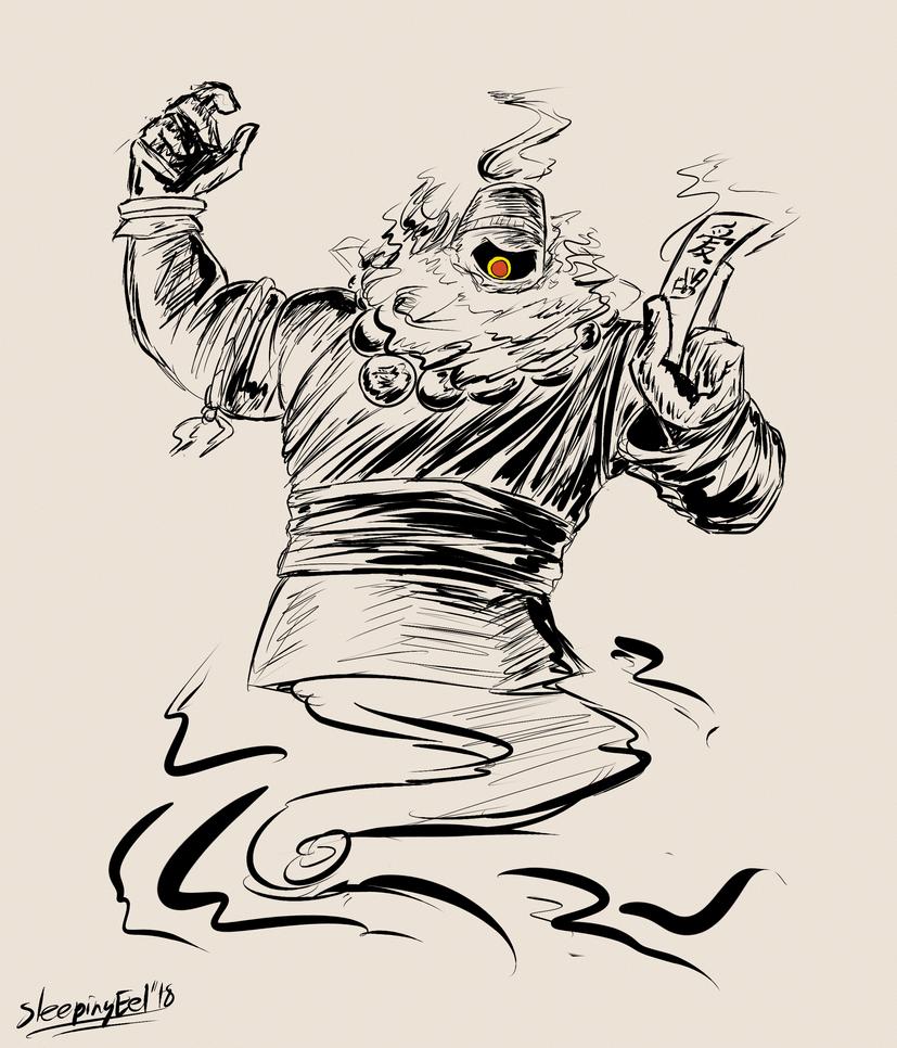 Ghostober 2: Dusknoir Monk by SleepingEel