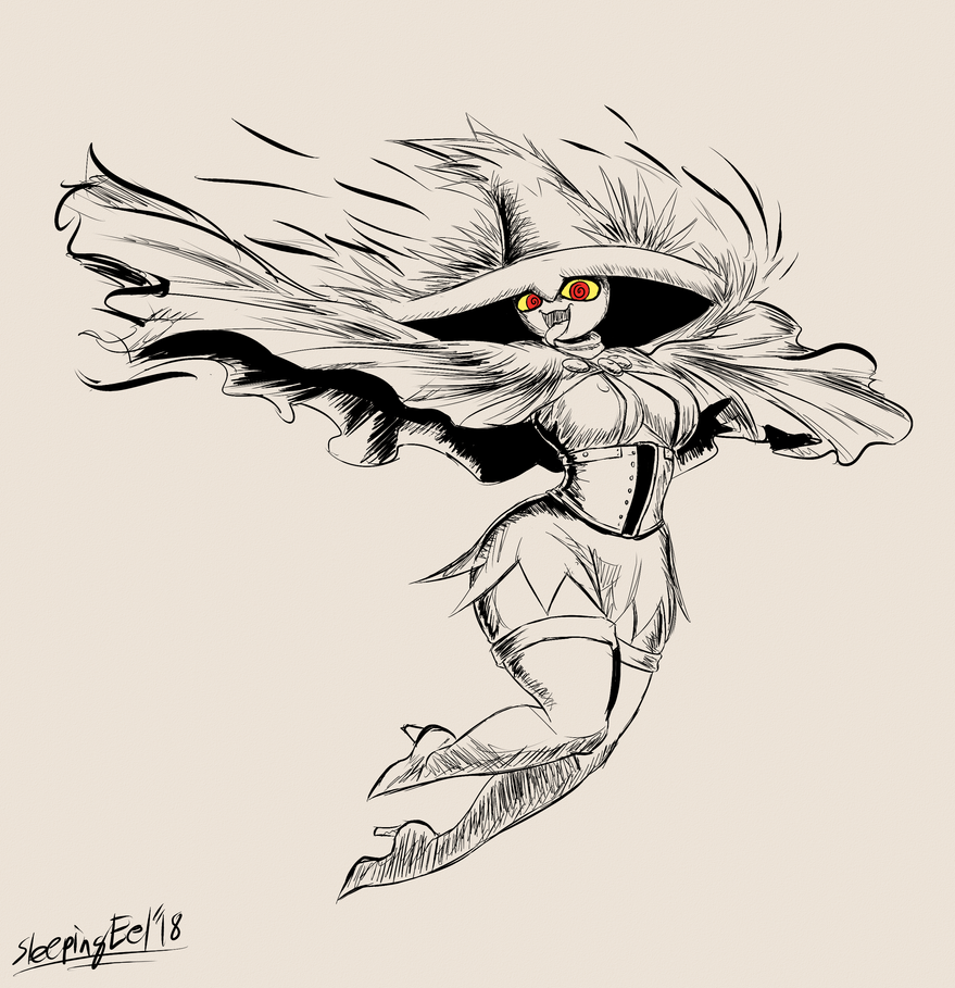 Ghostober 4: Witchy Mismagius by SleepingEel