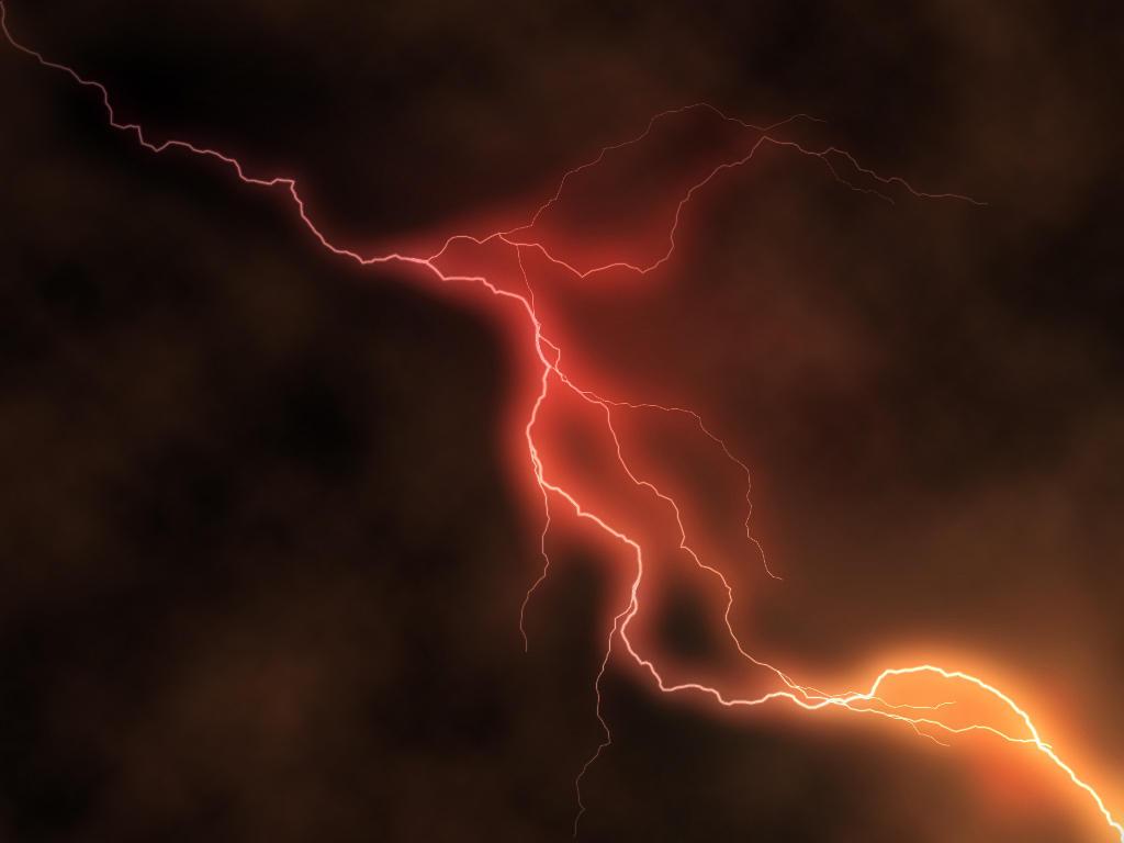 Orange Lightning By Sya