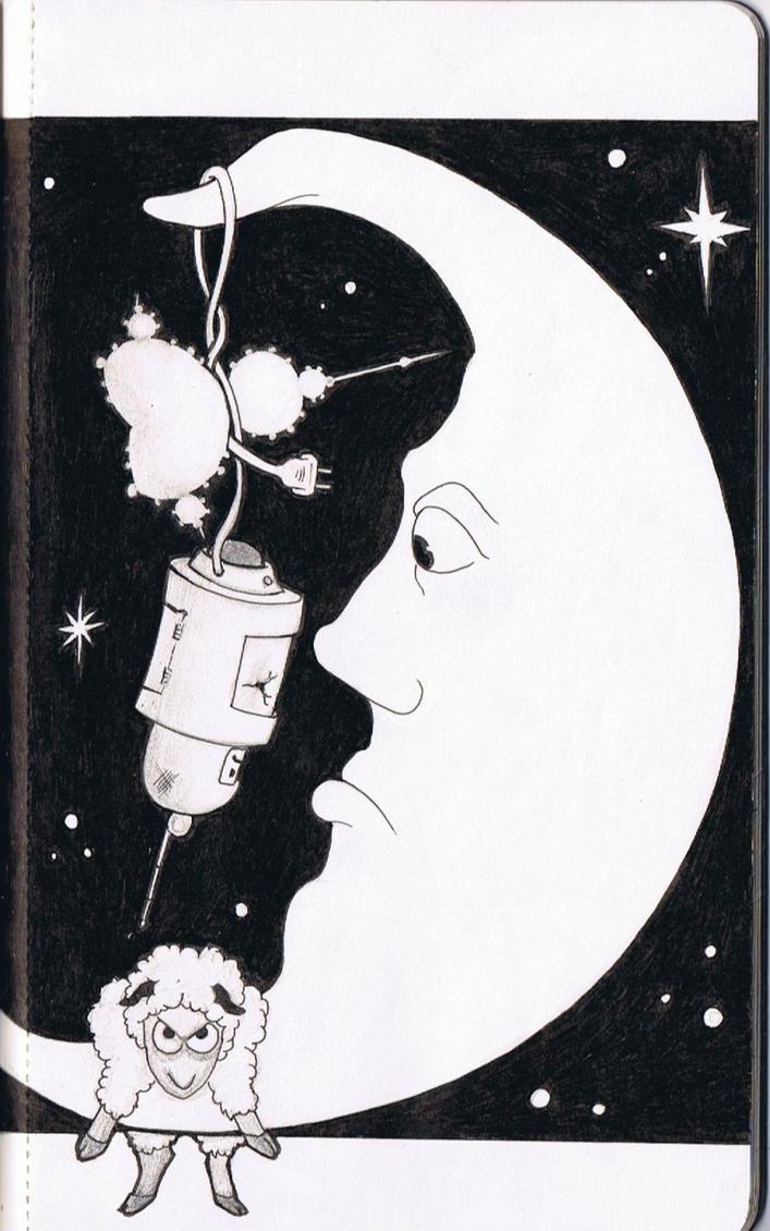 R.A.I. Moon, Fractal, Sheep by Sya