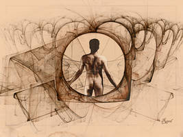 Leonardo  Fractal by Sya