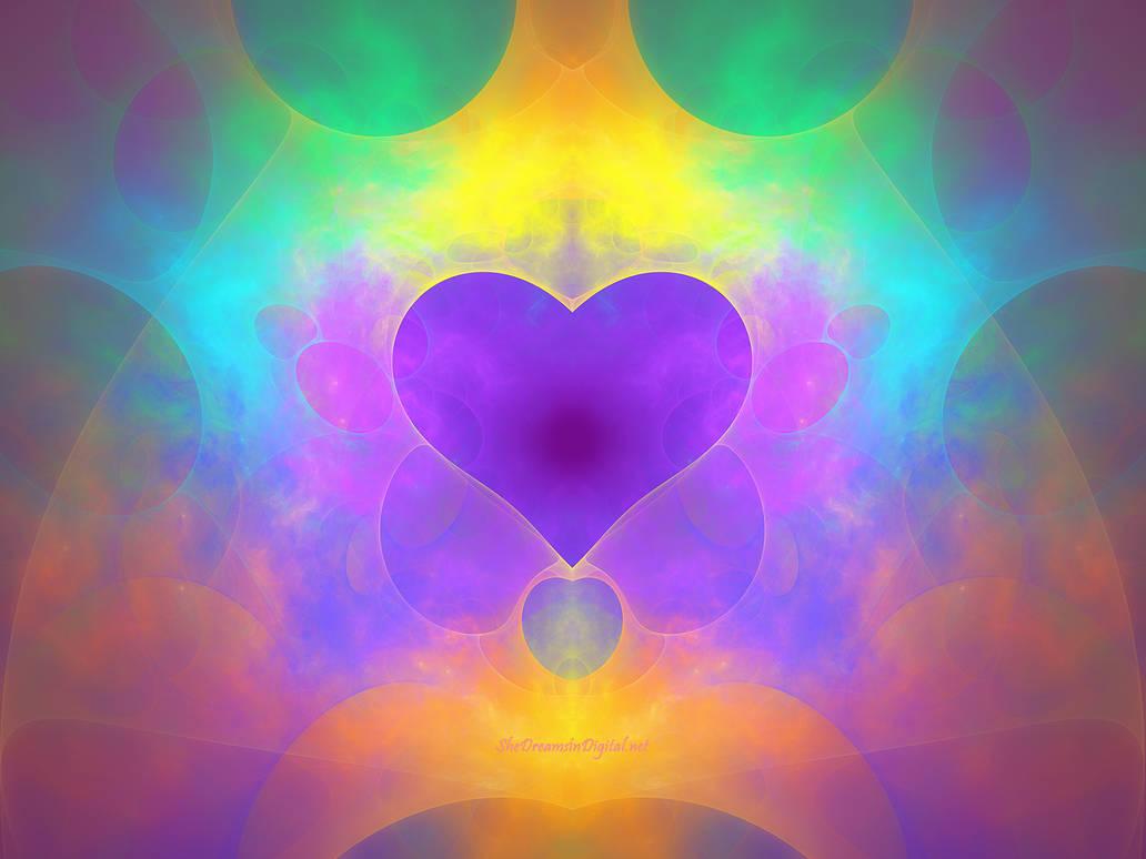 Rainbow Heart by Sya