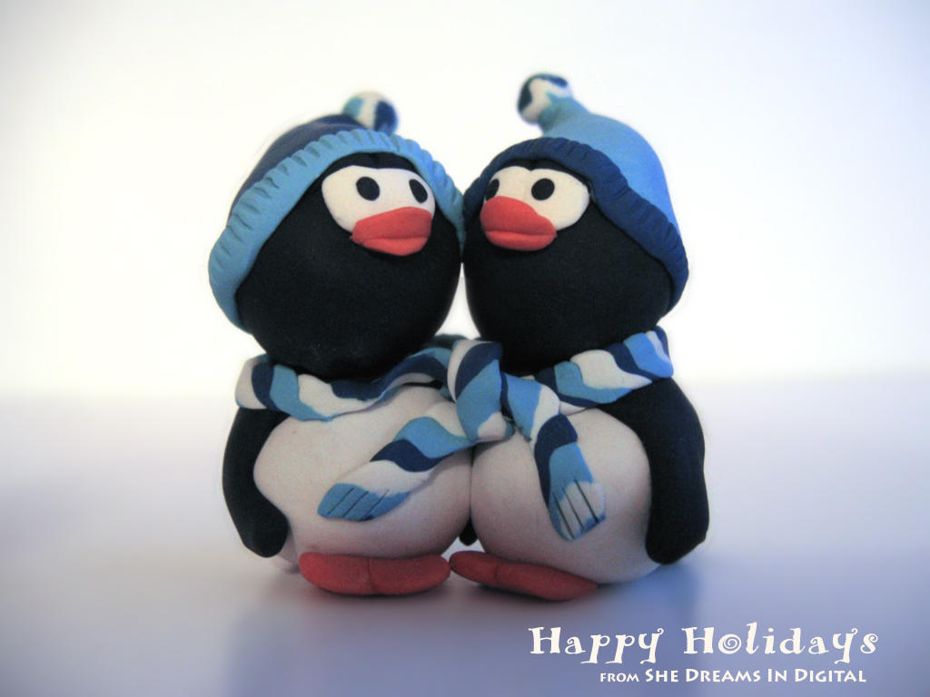 Holiday Penguins by Sya