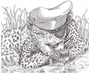 biker leopard
