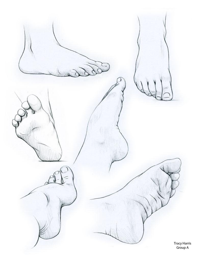 Foot Studies 1 by TeaElleHarris