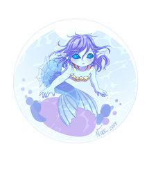 Deep Sea Mermaid - Bubble Trap by Nixuizu