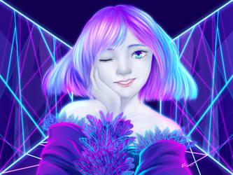 Blue Pink Harmony by Nixuizu