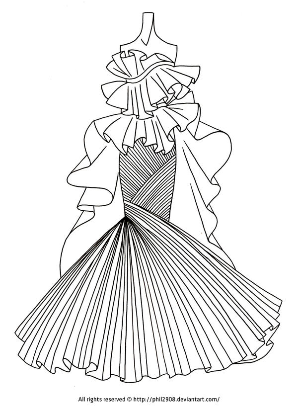 fashion lineart  12 by anotherphilip on deviantart