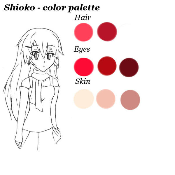 Shioko - color palette by RaikonKitsune