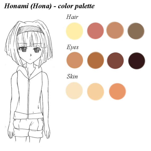 Honami (Hona) - color palette by RaikonKitsune