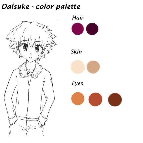 Daisuke - color palette by RaikonKitsune