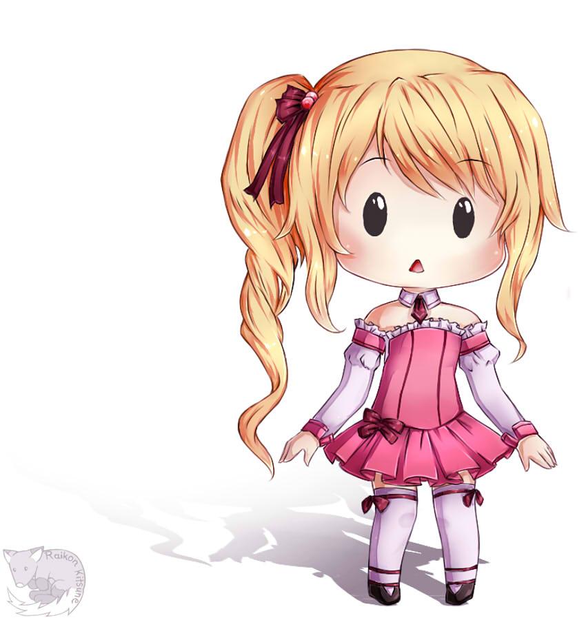 Blonde cheeb girl by RaikonKitsune