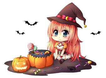 Senna cheeb witch by RaikonKitsune