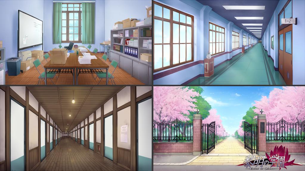 Reimei no Gakuen - Backgrounds by RaikonKitsune