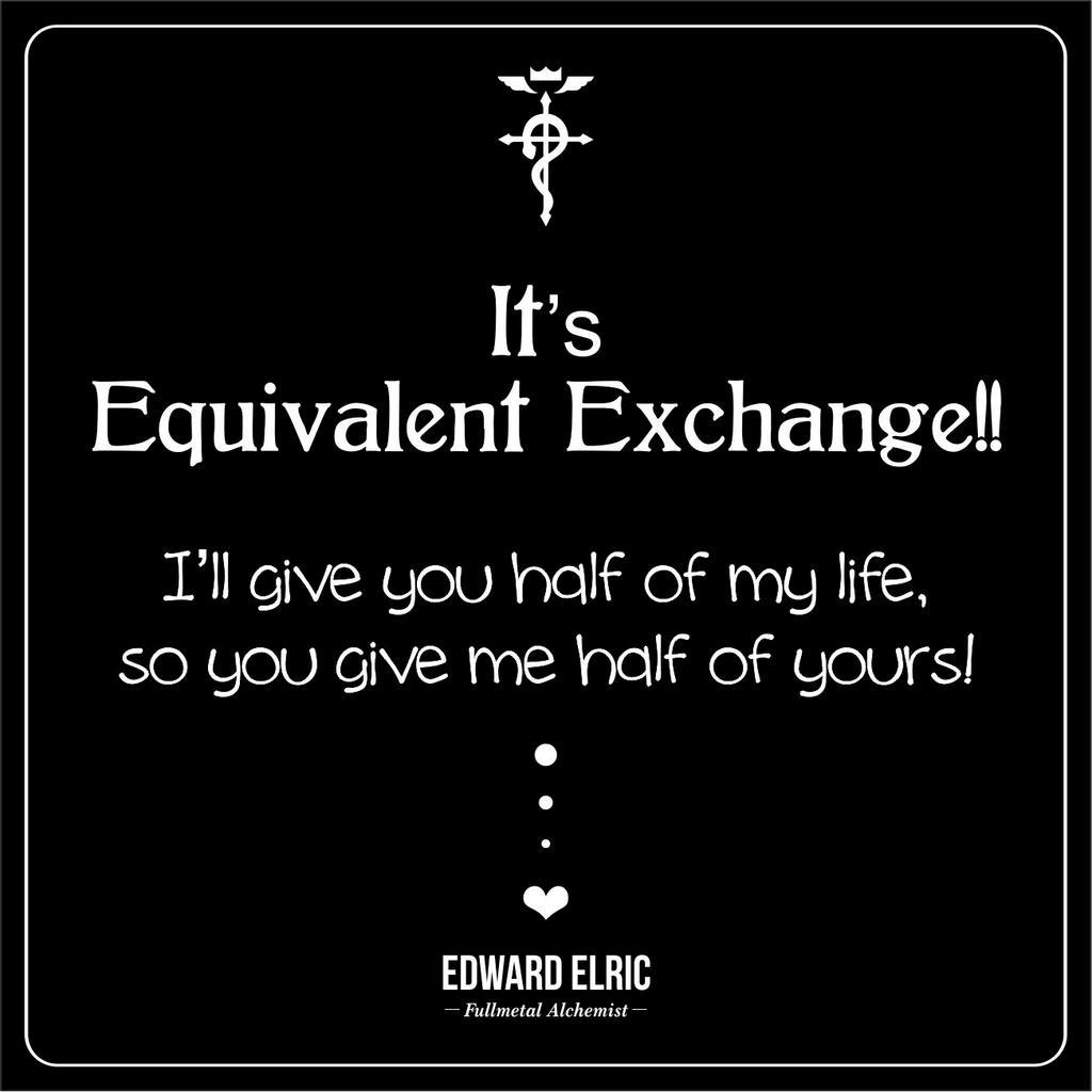 Equivalent Exchange!! by 91Jane on DeviantArt