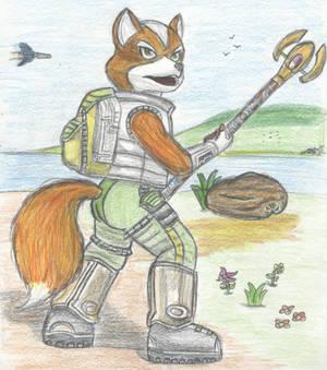 Fox McCloud Draws His Staff