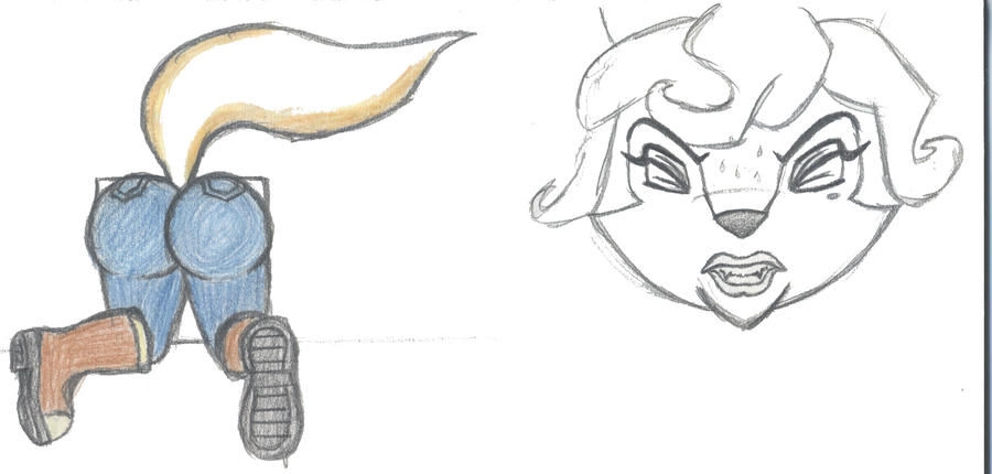 Carmelita Fox Stuck Sketch By RikMcCloud On DeviantArt
