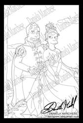 The princess and the Frog Lineart