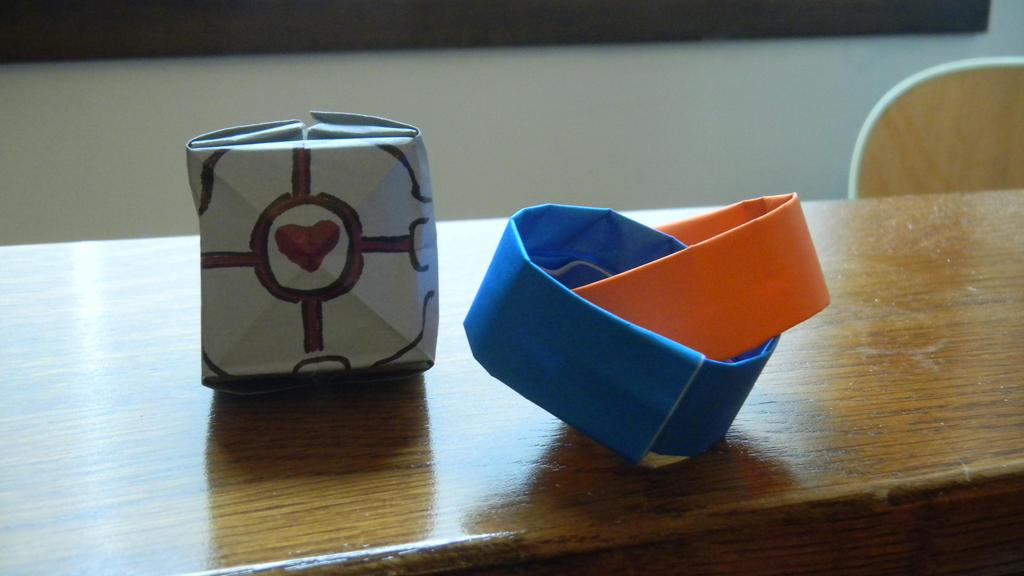 Portal Origami by DaleksinWonderland