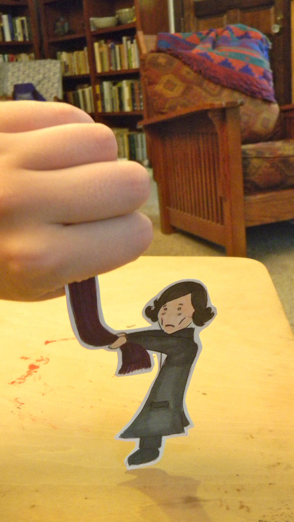 Sherlock Paper Child - My Scarf! by DaleksinWonderland