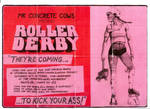 Roller Derby fundraiser poster