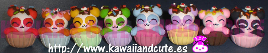 Rainbow Panda Cupcake by KawaiiAndCute