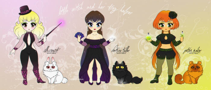 adoptables: OPEN // Little Witches // +YouTube