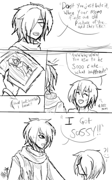 ''cause i got sassy'' (sketch) by Mazsliver