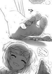 Natsuki feet by preesoul